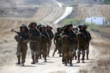 IDF-On-a-road-near-Gaza