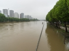 FRANCE, Paris: Seine river overflows docks in Paris on June 1st, 2016 after several days of continuous rainfall. - David BERTHO
