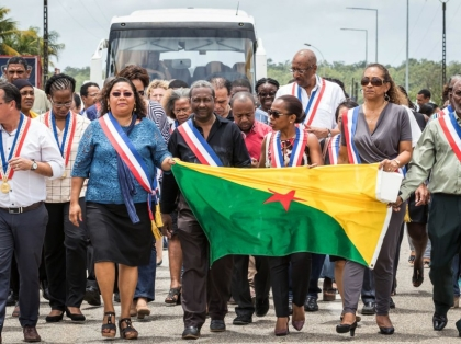FRANCE-OVERSEAS-GUIANA-SOCIAL-LABOUR-STRIKE