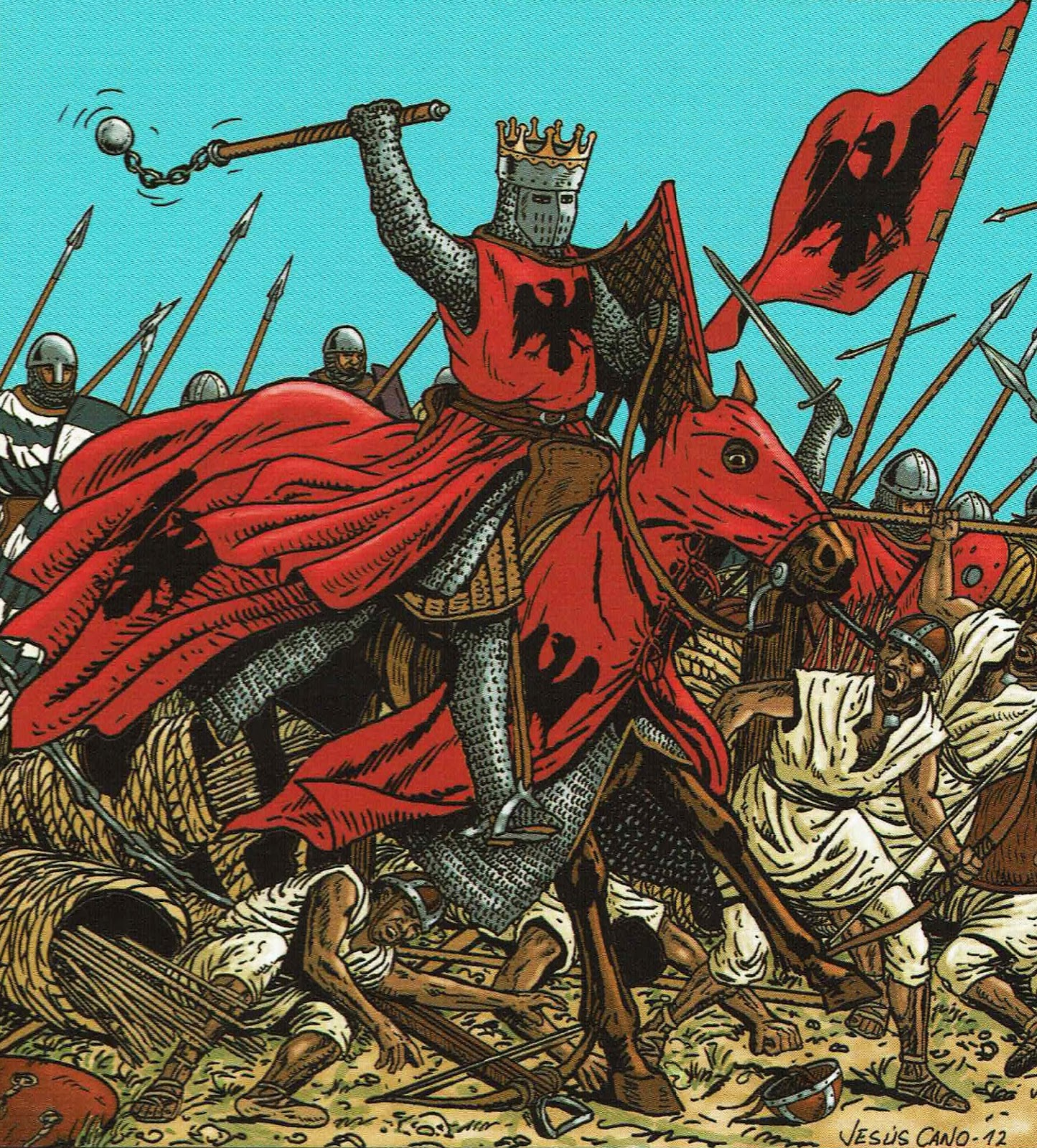 NavarraResiste.com: Navas de Tolosa 1212, el origen de las cadenas de  Navarra